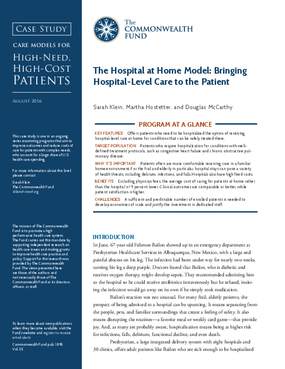 The Hospital at Home Model: Bringing Hospital-Level Care to the Patient