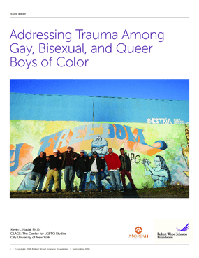 Addressing Trauma Among Gay, Bisexual, and Queer Boys of Color