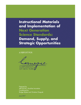 Instructional Materials and Implementation of Next Generation Science Standards:  Demand, Supply, and Strategic Opportunities