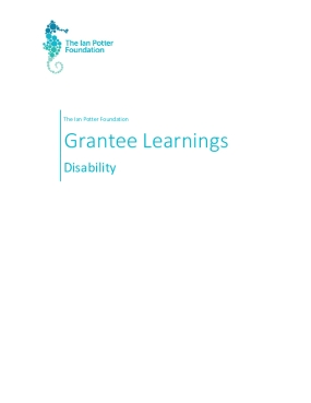 The Ian Potter Foundation Grantee Learnings: Disability