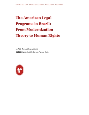 The American Legal Programs in Brazil: From Modernization Theory to Human Rights