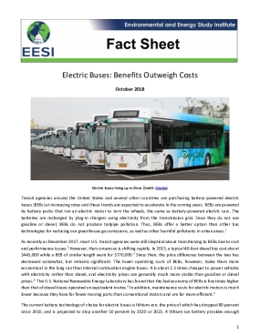 Electric Buses: Benefits Outweigh Costs
