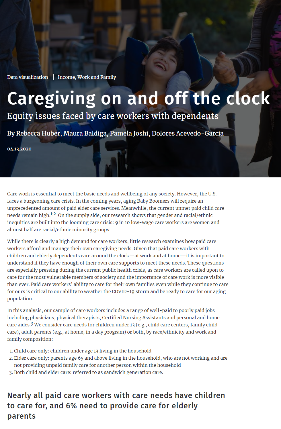 Caregiving On and Off the Clock: Equity Issues Faced by Care Workers with Dependents
