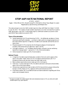 Stop AAPI Hate National Report