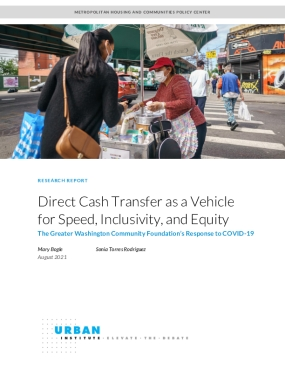 Direct Cash Transfer as a Vehicle for Speed, Inclusivity, and Equity